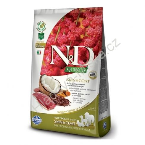 N&D GF Quinoa DOG Skin&Coat Duck & Coconut 800g