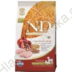 N&D LG DOG Senior S/M Chicken & Pomegr 2,5kg