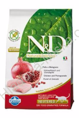 N&D GF CAT Neutered Chicken&Pomegranate 10kg