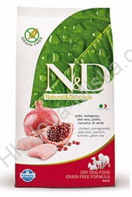 N&D GF DOG Adult Chicken & Pomegranate 12kg