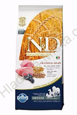N&D LG DOG Adult Lamb & Blueberry 12 kg