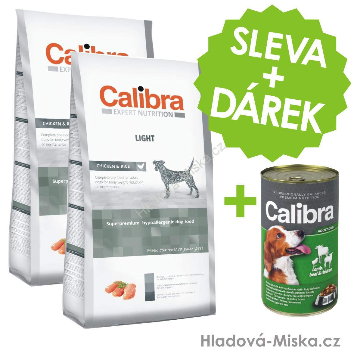 Calibra Dog EN Light 2x12kg +ZDARMA konzerva