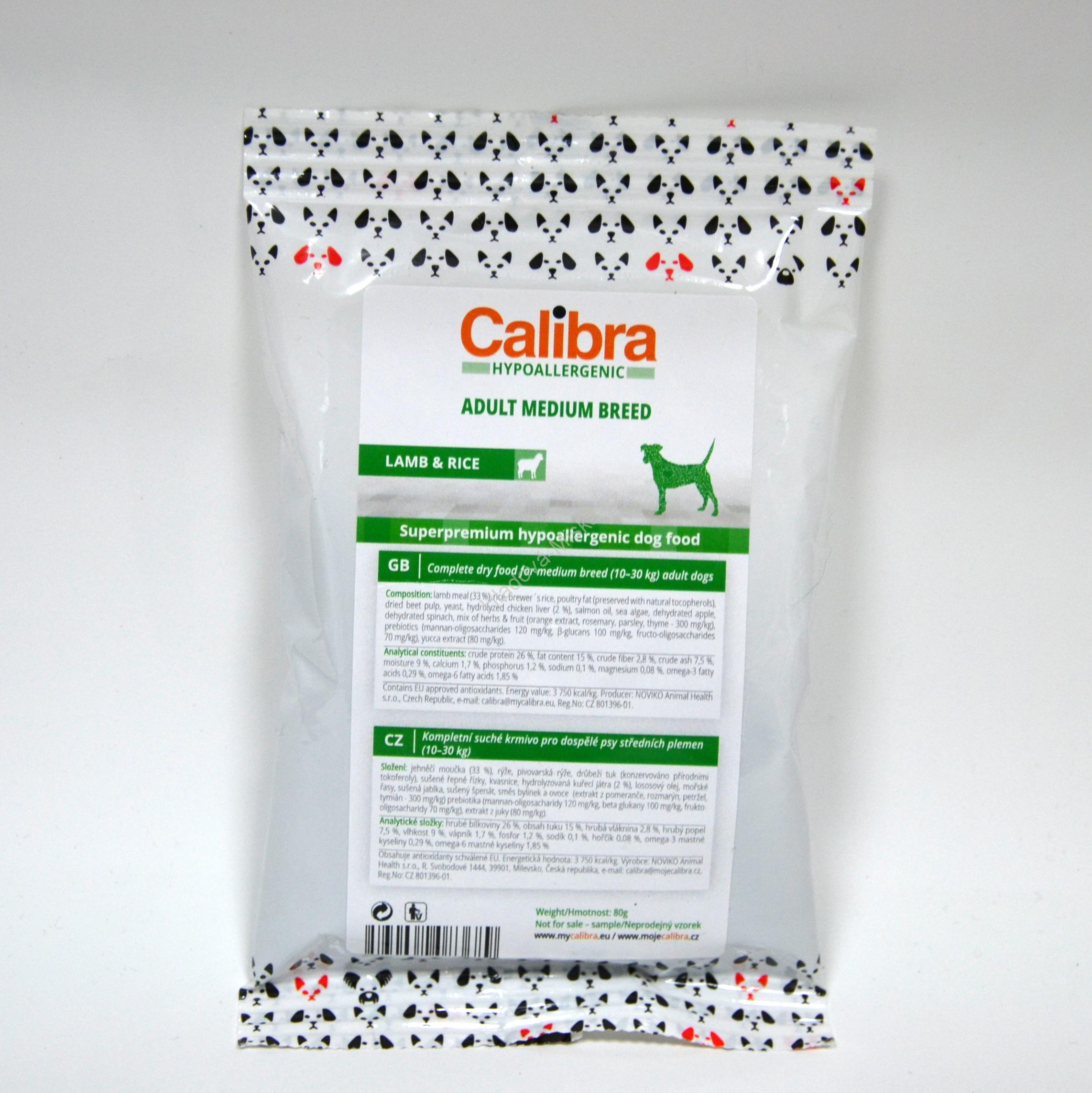 Calibra Dog HA Adult Medium Breed Lamb 80g - VZOREK