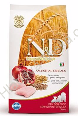 N&D LG DOG Puppy Starter Chicken & Pomegr 800g