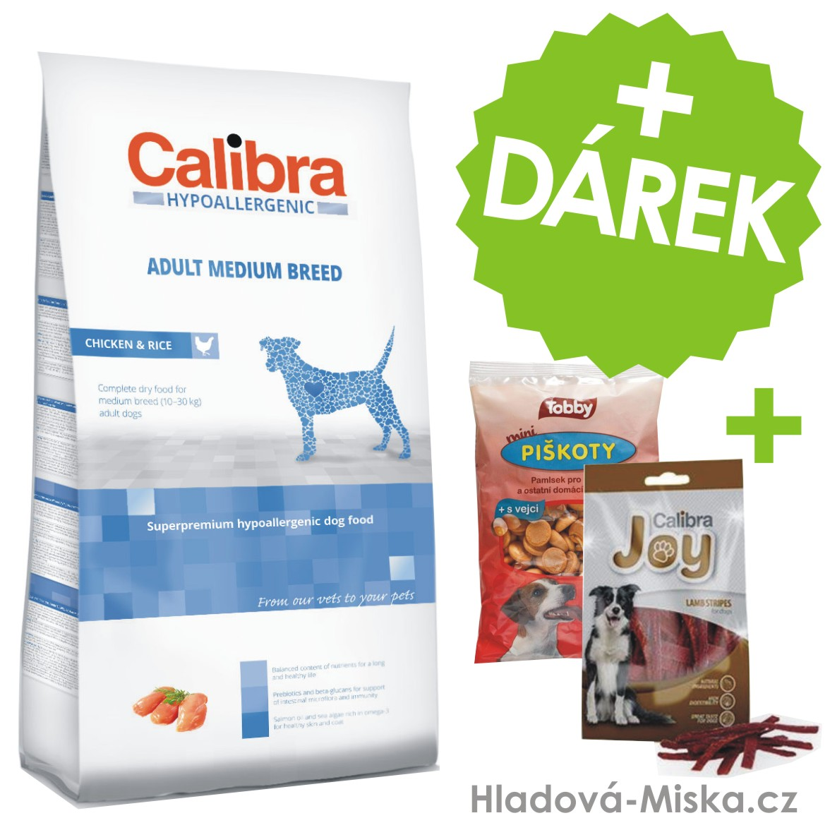 Calibra Dog HA Adult Medium Breed Chicken 14kg +ZDARMA masové pamlsky a piškoty