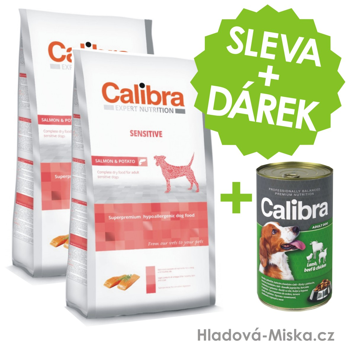 Calibra Dog EN Sensitive Salmon 2x12kg +ZDARMA konzerva 1240g