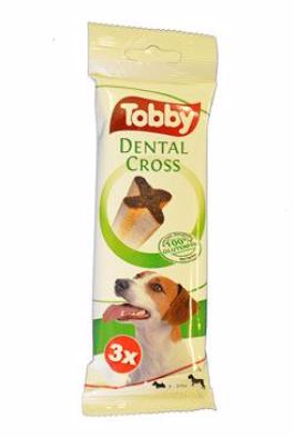 TOBBY pochoutka dentální DENTAL CROSS S-M 70g 3ks