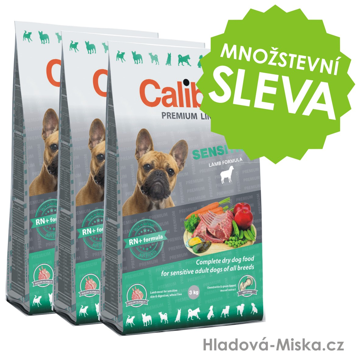 Calibra Dog Premium Line Sensitive 3x12kg