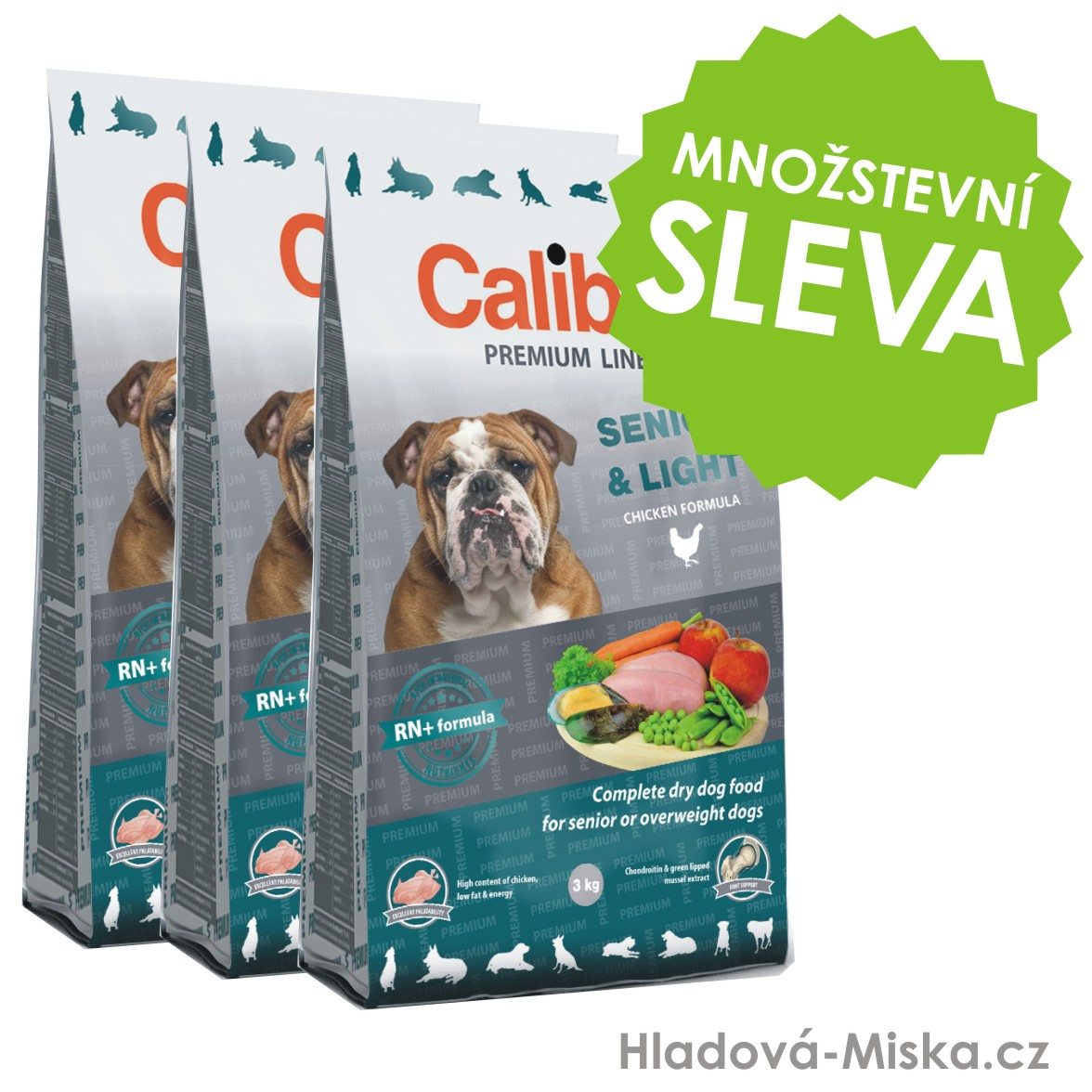 Calibra Dog Premium Line Senior&Light 3x12kg
