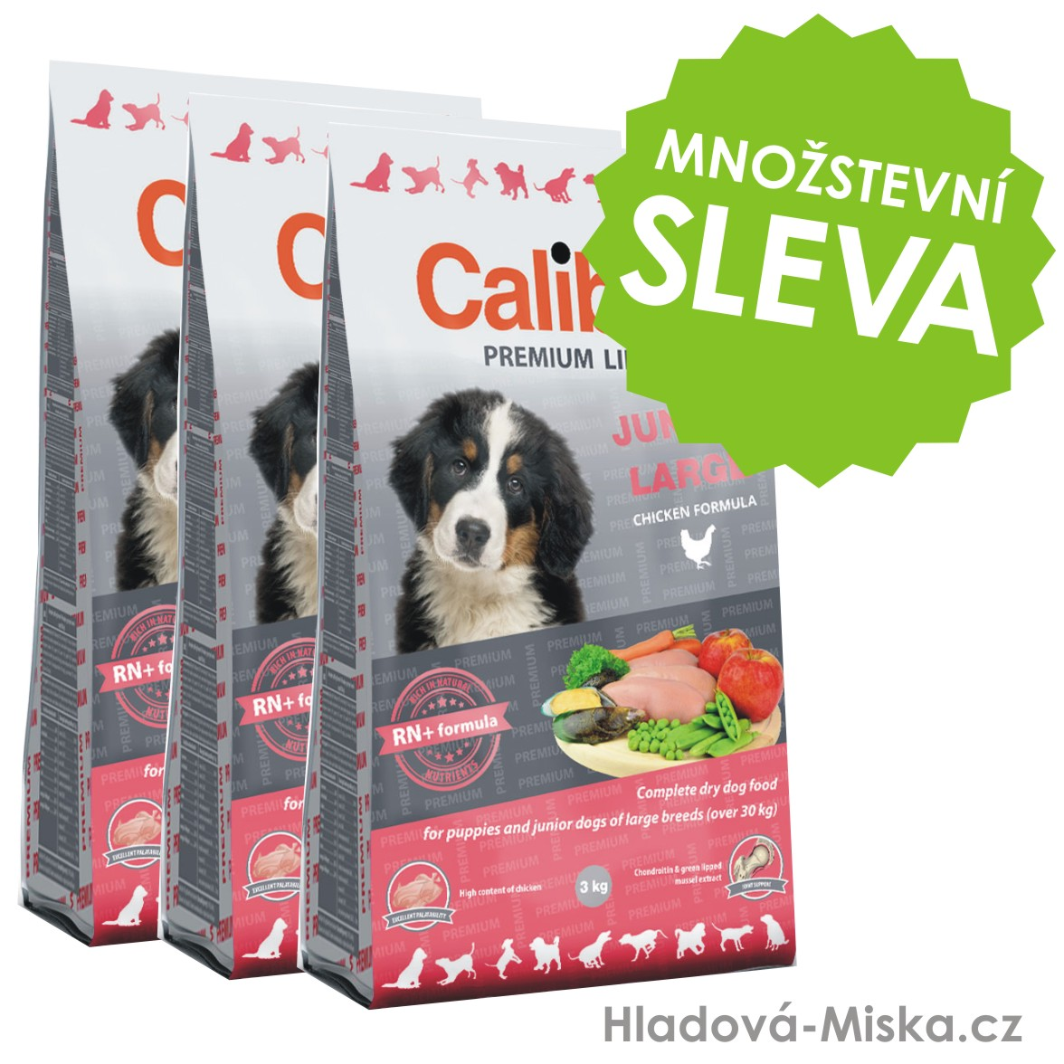 Calibra Dog Premium Line Junior Large 3x12kg