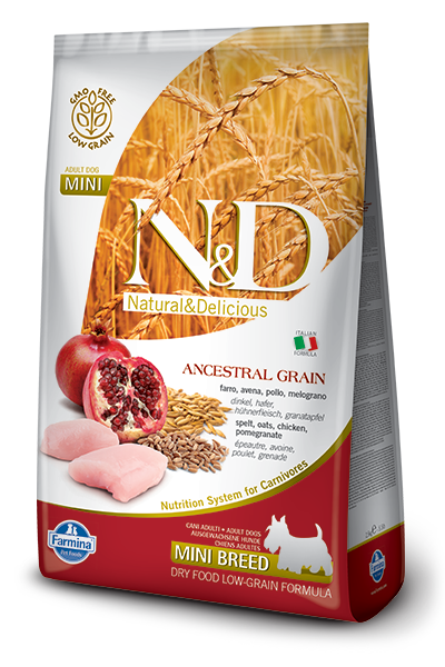 N&D LG DOG Adult Mini Chicken & Pomegr 800g